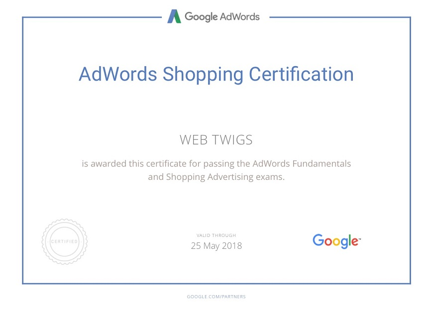 Webtwigs Adwords Shopping